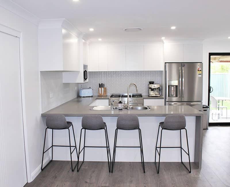 2u shape kitchen